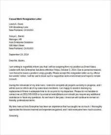 cover letter casual general resume 187 casual resignation letter cover letter