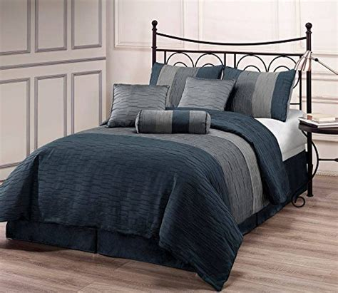 slate blue comforter zadooth cal king size 7 piece comforter set slate blue