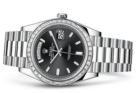 Rolex On Stainless Steel Bracelet A 3255 rolex day date 228396tbr swiss 3255 automatic black
