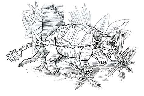 ankylosaurus   tree coloring page