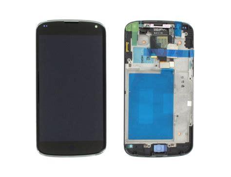 lg nexus 4 lg nexus 4 e960 lcd display touchscreen frame black