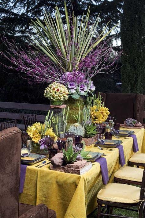 49 Best Purple Yellow Wedding Decor Images On Pinterest Purple And Yellow Wedding Centerpieces