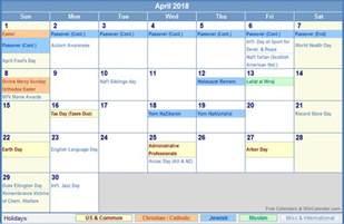 Calendar 2018 Holy Week Image Gallery Easter 2018 Calendar