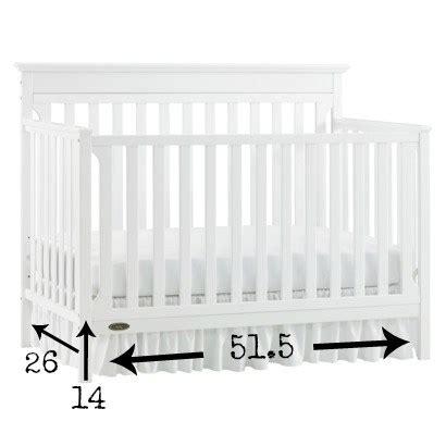 The Easiest Diy Crib Skirt Ever Variety By Vashti Crib Bed Skirt Measurements