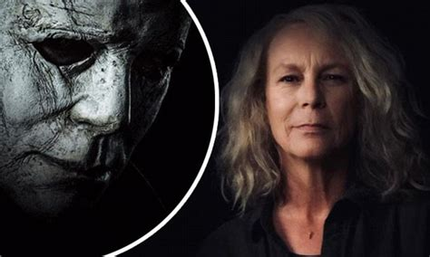 mike myers jamie lee curtis jamie lee curtis shares first halloween poster showing