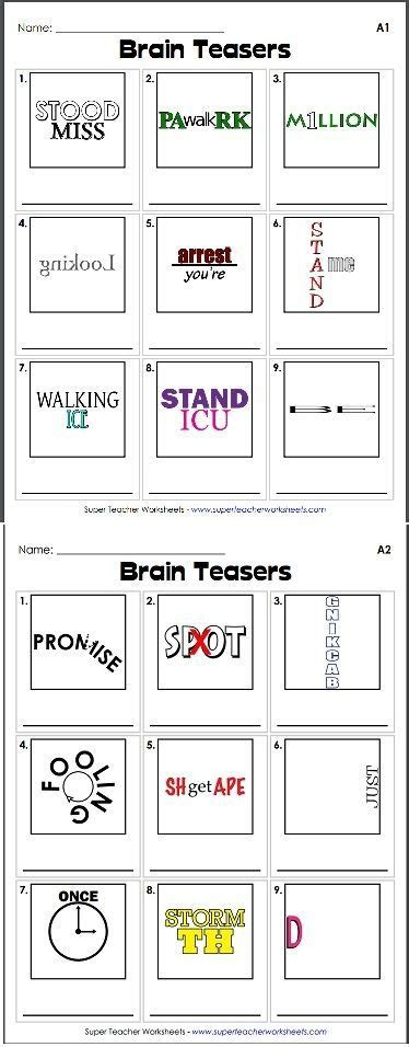 printable games for your brain check out our collection of brain teasers like this rebus