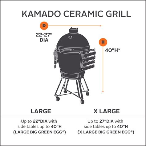 xl big green egg table dimensions