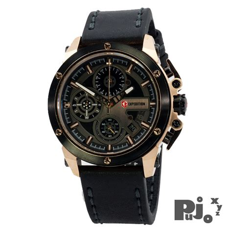 G Ci Murah Black Rosegold jual expedition e6603m black gold jam tangan