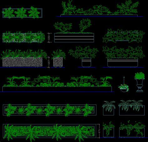 bushes elevation dwg elevation  autocad designs cad