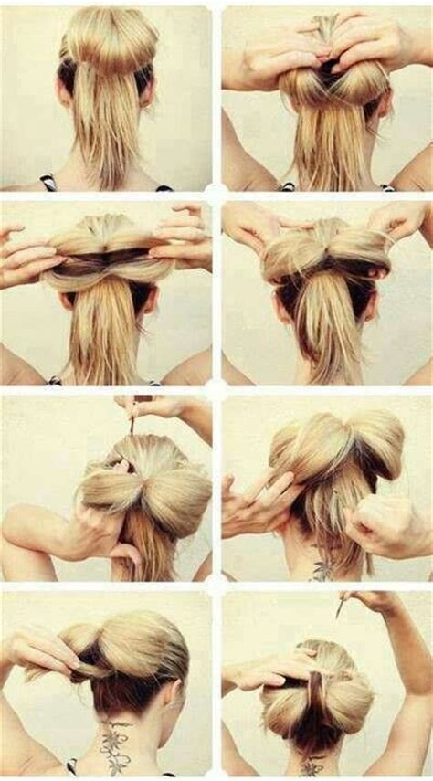 hairstyles using hair ties bow tie ponytail hairstyles pinterest bow ties ties