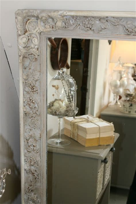 chalk paint mirror frame painted mirror frame with gray and white a s