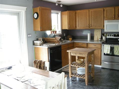 blue kitchen with oak cabinets blue gray kitchen walls kitchen wall colors with oak