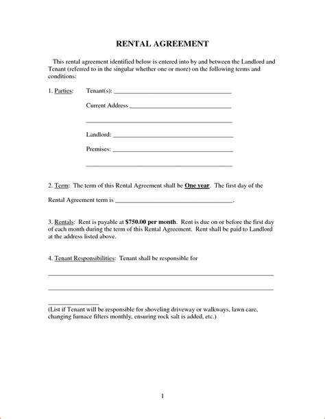 simple tenancy agreement template 8 simple rental agreement form printable receipt