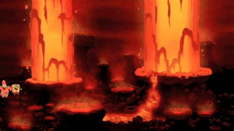 spongebob squarepants lava l spongebob and patrick jumping over lava geysers enjoy
