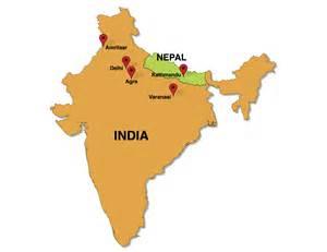 India Nepal Map yoga amp kirtan in india and nepal february 2015 retreatours