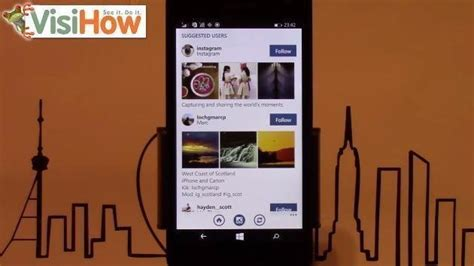 How To Find To Follow On Instagram Find To Follow On Instagram With Microsoft Lumia 535 Visihow