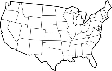 large blank us map printable us blank map clipart best