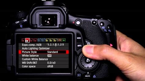 tutorial video canon 7d canon eos 60d tutorial picture style operation 10 14
