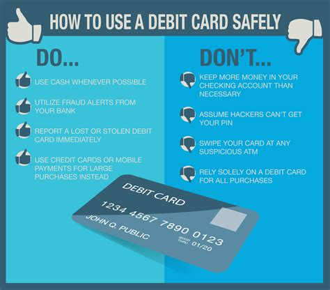 card tips practice safe spending how to use your debit card safely