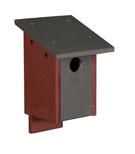 Custom Poly Winning Bird 4 poly blue bird house poly wood solid color uv resistant