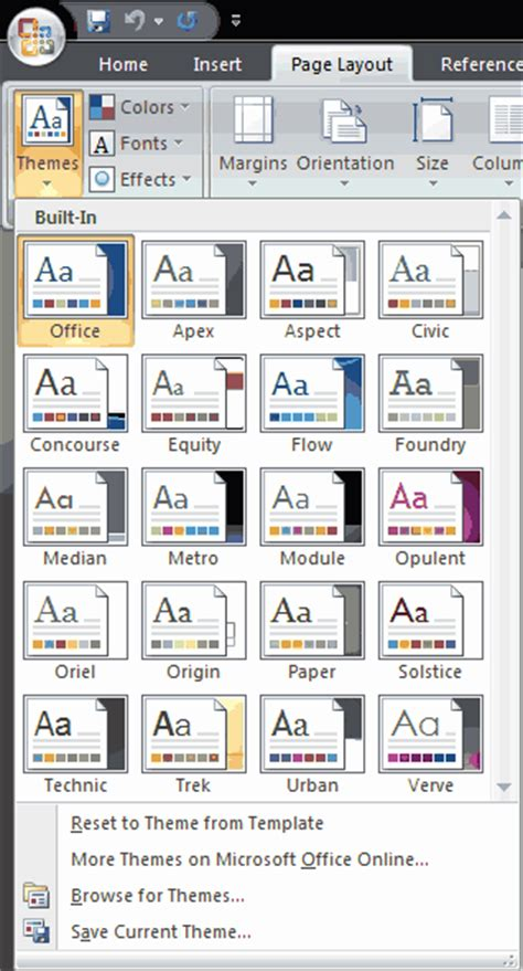 applying themes in powerpoint 2007 applying themes in powerpoint word and excel 2007