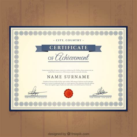 free certificate of achievement template certificate of achievement template vector free