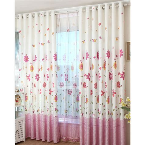 Pink Floral Curtains Korean Pink Floral Bedroom Jacquard Heavy Sweet Floral Curtains