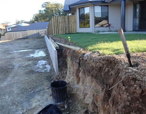 australian retaining walls concrete sleepers with