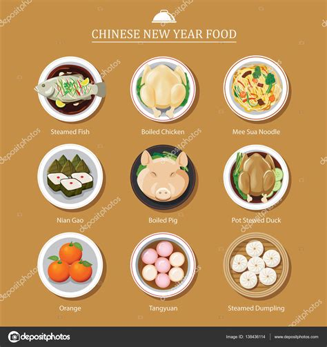 new year food vector food for new year stock vector 169 kaisorn4 138436114