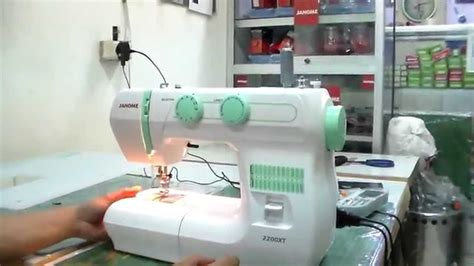 Mesin Jahit Janome 2200xt janome 2200xt tutorial part 5 meja sepatu ruffler sepatu