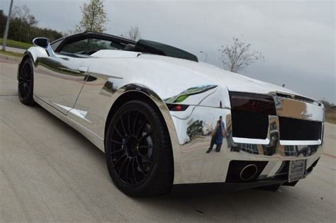 2008 lamborghini gallardo convertible chrome wrap head turning car