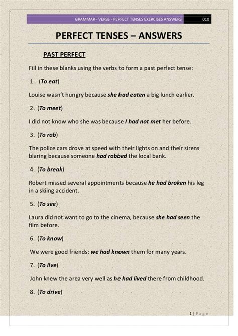 verb tense worksheets past perfect perfect tense verb worksheets resultinfos