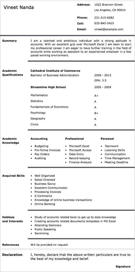 format of a cv writing cv writing