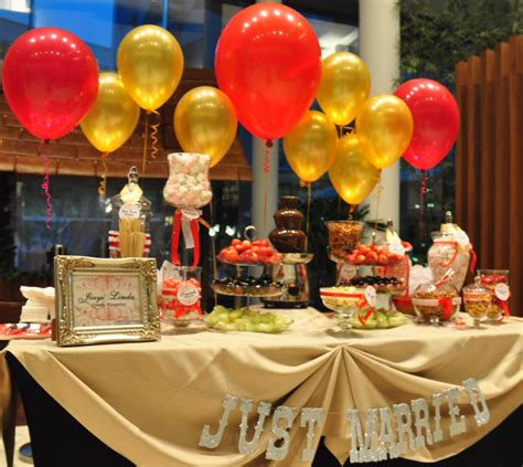 table decorations wedding buffet ideas balloons for buffet table