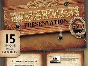 Western Powerpoint Template by Western Style Powerpoint Presentation Template By