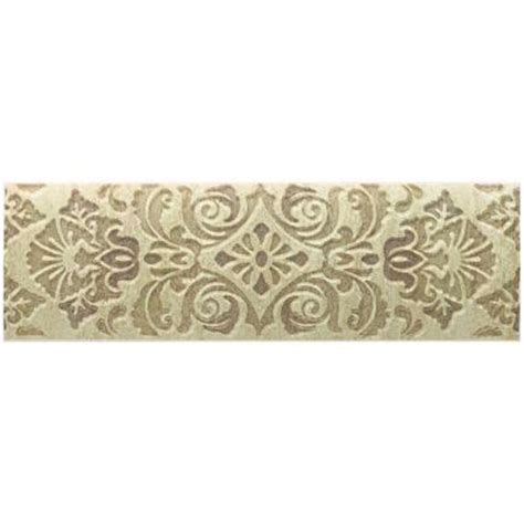 ceramic wall tile fashion accents tapestry 3 in x 9 in
