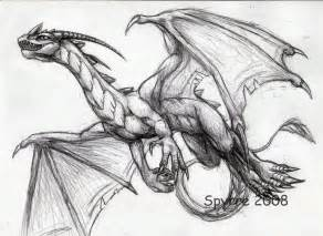 Flying dragon pencil drawings sketch coloring page