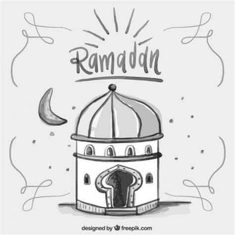 Simple Ramadhan watercolor simple ramadan card vector premium