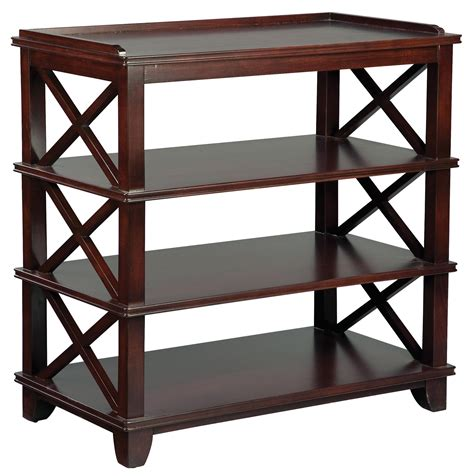 Dining Room Side Tables Fairfield Tables Casual Dining Room Side Table With Open Storage And Criss Cross Pattern