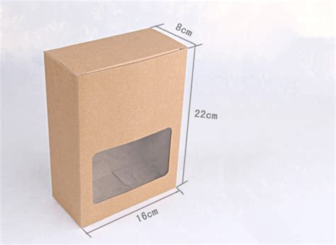 window boxes packaging 16 22 8cm kraft window box bakery biscuit cake gift