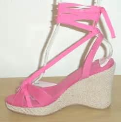 unisa platform espadrilles ankle tie wedge sandals 6 5m