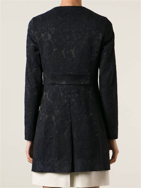 Black Back Embroidered Coat tagliatore embroidered coat in black lyst