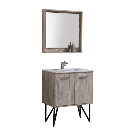 30 Modern Bathroom Vanity by Bosco 30 Quot Modern Bathroom Vanity W Quartz Countertop