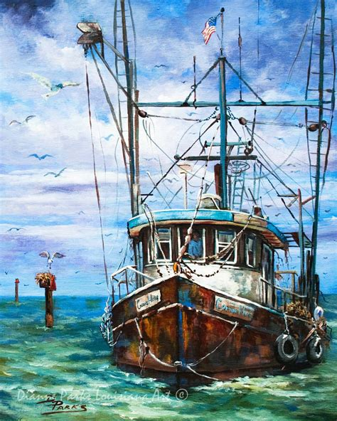 louisiana shrimp boat art louisiana shrimp boat painting