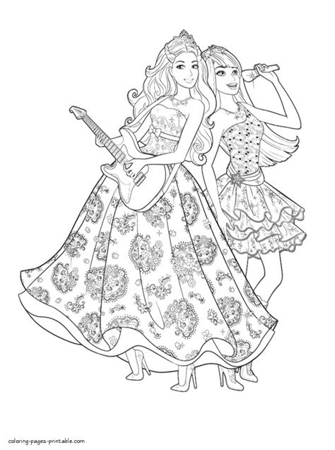 coloring pages of barbie princess and the popstar coloring pages barbie princess and popstar fun coloring
