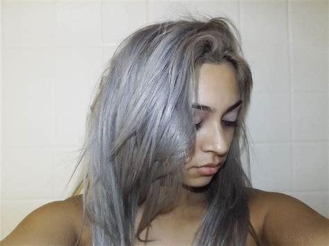 Shoo Mane And purple shoo blue on grey hair shoo before and after purple mane purple