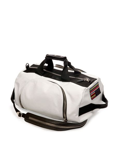 duffle bag or backpack givenchy leather backpack duffel bag white