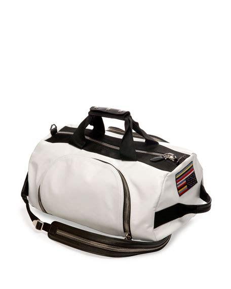 backpack duffel bag givenchy leather backpack duffel bag white