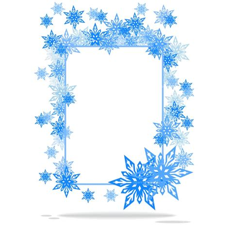 frame clipart snowflake pencil and in color frame