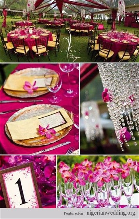 fuschia wedding theme wedding fuchsia pink magenta